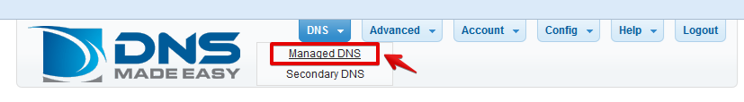 DNS Made Easy DNS zone editor interface